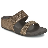 Zapatos Mujer Zuecos (Mules) FitFlop LULU SUPERGLITZ SLIDE Bronce