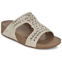 Zapatos Mujer Zuecos (Mules) FitFlop CARMEL SLIDE Beige