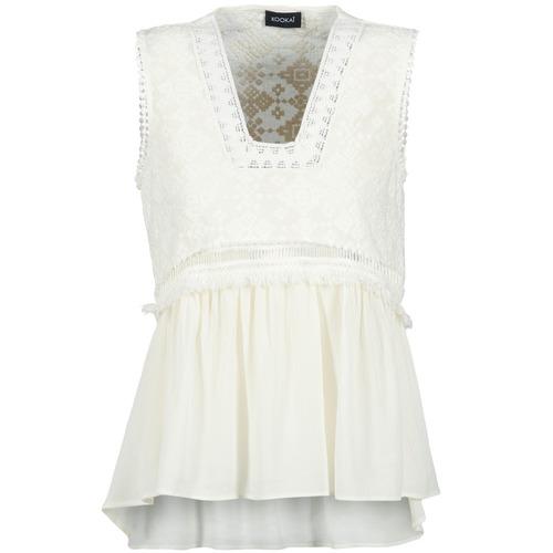 textil Mujer camisetas sin mangas Kookaï VACHOVA Blanco