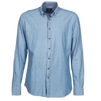textil Hombre camisas manga larga Hackett RILEY Azul