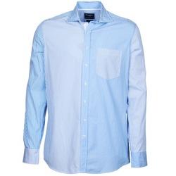 textil Hombre camisas manga larga Hackett GORDON Azul