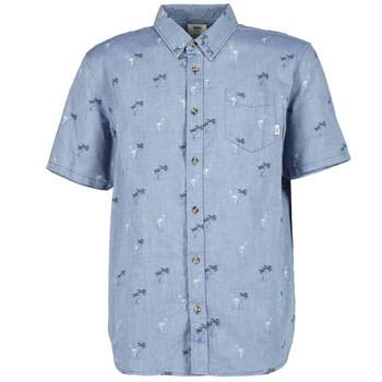 textil Hombre camisas manga corta Vans HOUSER SS Azul