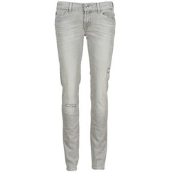 textil Mujer vaqueros slim 7 for all Mankind ROXANNE DESTROYED Gris