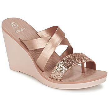 Zapatos Mujer Sandalias Grendha PARADISO II PLAT Rosa / Metalizado
