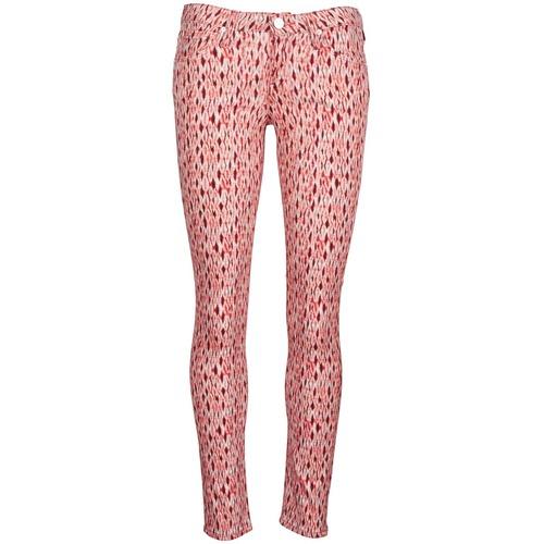 textil Mujer vaqueros slim Lee SCARLETT Rojo / Naranja
