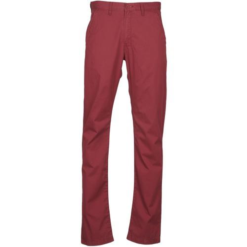 textil Hombre pantalones chinos Lee CHINO OXBLOOD Rojo