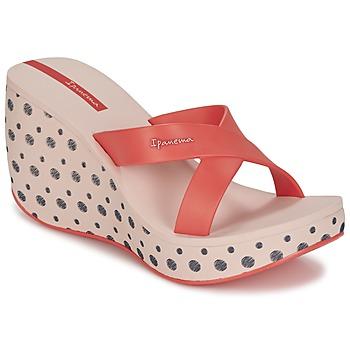 Zapatos Mujer Zuecos (Mules) Ipanema LIPSTICK STRAPS II Rojo / Rosa