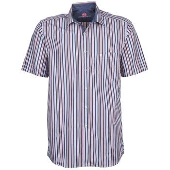 textil Hombre camisas manga corta Pierre Cardin 514636216-184 Azul / Rosa