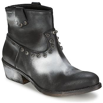 Zapatos Mujer Botas de caña baja Strategia SFUGGO Negro / Plateado