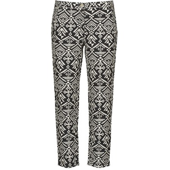 textil Mujer Pantalones fluidos Freeman T.Porter PARADISE AFRICAN COT. BLACK INK Negro / Blanco