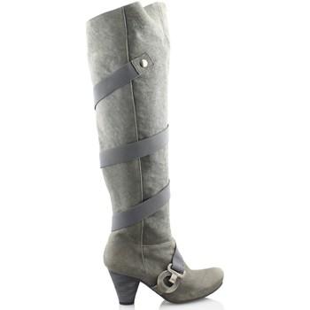 Zapatos Mujer Botas a la rodilla Gino Vaello OIL TOPO GRIS