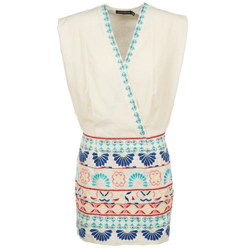 Antik Batik POLIN Blanco / Multicolor - Envío gratis | ! - textil vestidos cortos Mujer