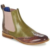 Zapatos Mujer Botas de caña baja Melvin & Hamilton AMÉLIE 5 Verde / Rosa / Beige