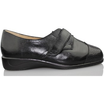 Zapatos Mujer Derbie Drucker Calzapedic SERPIENTE JUNGLA NEGRO