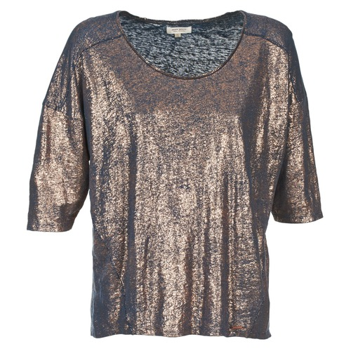 textil Mujer camisetas manga corta Miss Sixty FOX Marino / Oro