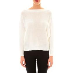 textil Mujer Jerséis De Fil En Aiguille Pull Galina blanc Blanco