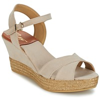 Zapatos Mujer Sandalias Betty London TECHNO Beige