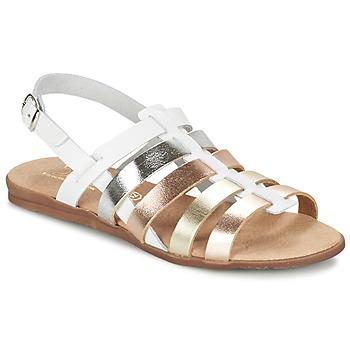 Zapatos Niña Sandalias Citrouille et Compagnie PEQUEBELLO Blanco / Dorado
