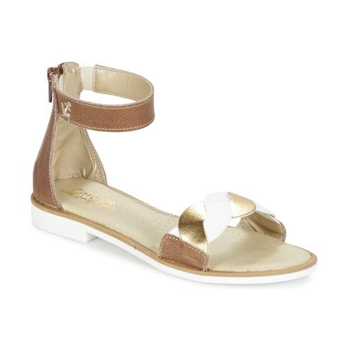 Zapatos Niña Sandalias Citrouille et Compagnie MINIMAZA Camel / DORADO