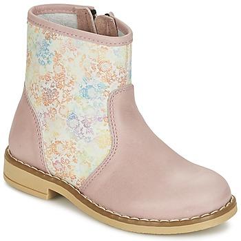 Zapatos Niña Botas de caña baja Citrouille et Compagnie OUGAMO LIBERTY Rosa / Flowercolor