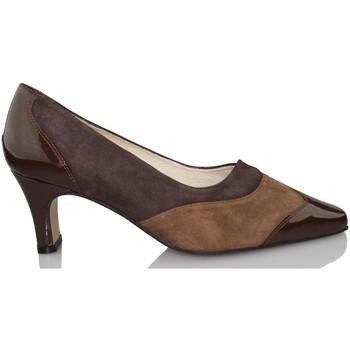Zapatos Mujer Zapatos de tacón Sana Pies SANAPIES CHAROL MOKA MARRON