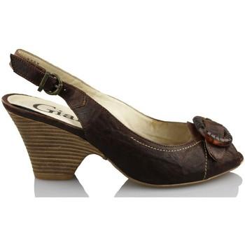 Zapatos Mujer Sandalias Giana Di Firenze GIANNA DI FIRENZE ETRUSCO MARRON