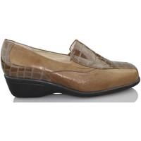 Zapatos Mujer Mocasín Sana Pies COMODOS CHAROL MARRON