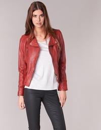 textil Mujer Chaquetas de cuero / Polipiel Oakwood 60861 Rojo