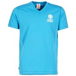textil Hombre camisetas manga corta Franklin & Marshall DOBSON Azul