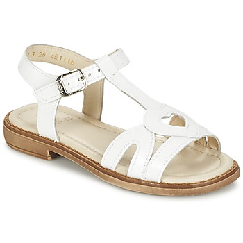Zapatos Niña Sandalias Aster TCHANIA Blanco