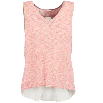 textil Mujer camisetas sin mangas Les P'tites Bombes NODOLA Coral