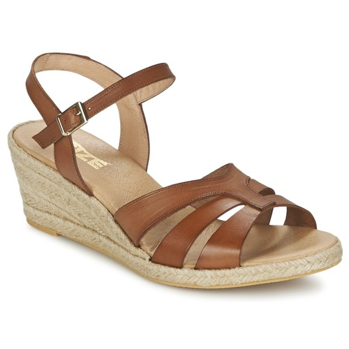 Recortes de precios estacionales, beneficios de descuento So Size ELIZA Marrón - Envío gratis Nueva promoción - Zapatos Sandalias Mujer  Marrón