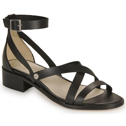 Zapatos Mujer Sandalias Casual Attitude COUTIL Negro