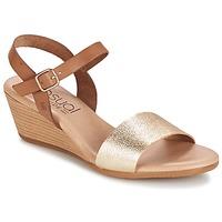 Zapatos Mujer Sandalias Casual Attitude GOLETTE Camel / DORADO