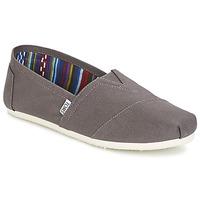 Zapatos Hombre Slip on Toms CLASSICS Gris