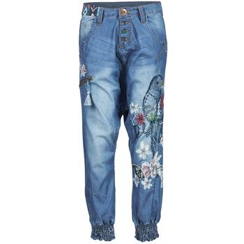 textil Mujer Pantalones fluidos Desigual ANIATINE Azul / Medium