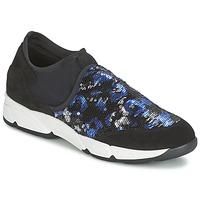 Zapatos Mujer Slip on Meline LEO Negro / Azul