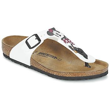 Zapatos Niños Chanclas Birkenstock GIZEH Blanco / Rojo