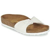 Zapatos Niña Zuecos (Mules) Birkenstock MADRID Blanco / Brillantina