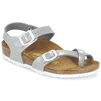 Zapatos Niña Sandalias Birkenstock TAORMINA Plateado