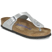 Zapatos Mujer Chanclas Birkenstock GIZEH Plata