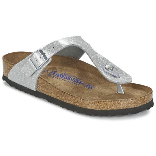 Zapatos promocionales Birkenstock GIZEH Plata  Cómodo y bien parecido