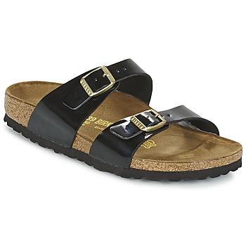 Zapatos Mujer Zuecos (Mules) Birkenstock SYDNEY Negro / Barniz