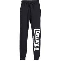 textil Hombre Pantalones de chándal Lonsdale LARGE LOGO Negro
