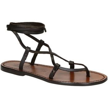 Zapatos Mujer Sandalias Gianluca - L'artigiano Del Cuoio 518 D MORO CUOIO Testa di Moro