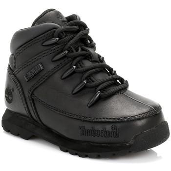 Zapatos Niño Botas de caña baja Timberland Enfant Noir Euro Sprint Bottes En Cuir Timberland_535
