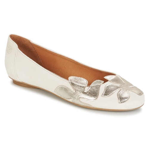 Zapatos Mujer Bailarinas-manoletinas Betty London ERUNE Blanco / Plateado