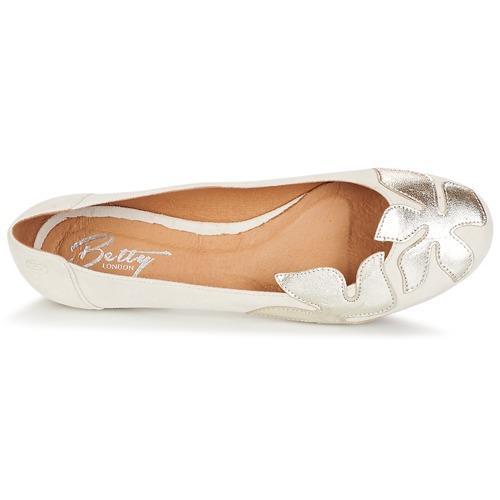 Venta de liquidación de temporada Betty London ERUNE Blanco / Plateado - Envío gratis Nueva promoción - Zapatos Bailarinas Mujer