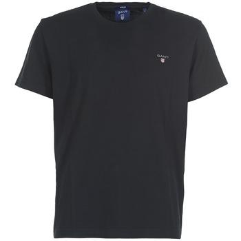 textil Hombre camisetas manga corta Gant THE ORIGINAL SOLID T-SHIRT Negro