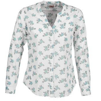 textil Mujer camisas Mustang FLOWER BLOUSE Blanco / Azul